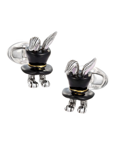Rabbit In Top Hat Cuff Links