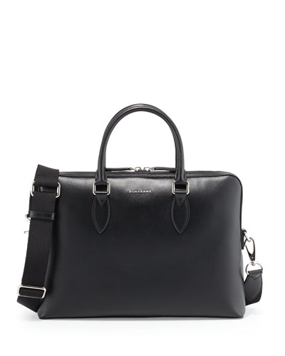 Bermondsey Grained Leather Briefcase, Black