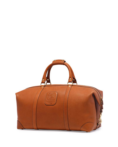 Cavalier III No. 98 Large Leather Duffle Bag, Chestnut
