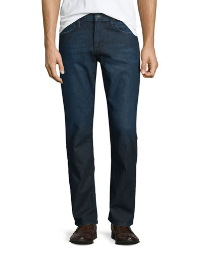 Byron Viral Straight-Leg Denim Jeans, Dark Blue