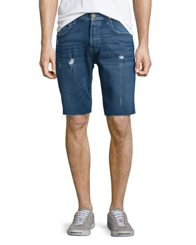 Hess Cutoff Denim Shorts, Blue
