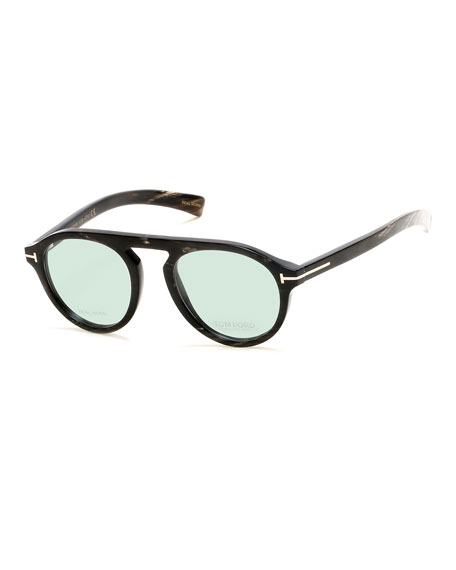 cba49758211 TOM FORD Tom N.9 Private Collection Real Horn Optical Frames