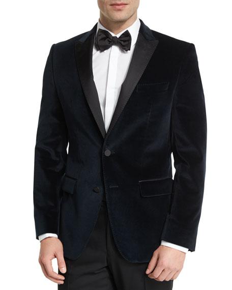 cb620c4fa40c BOSS Haimon Velvet Dinner Jacket, Navy