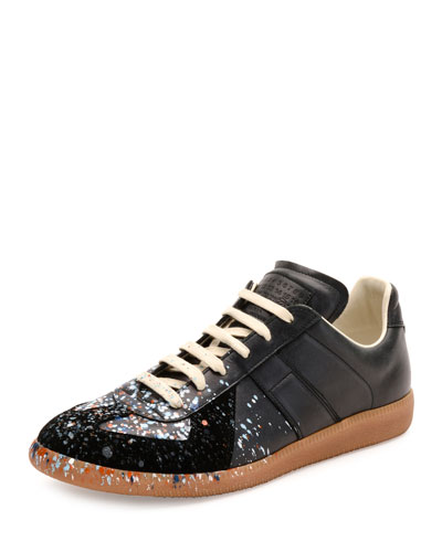 s sneakers leather high top sneakers at neiman
