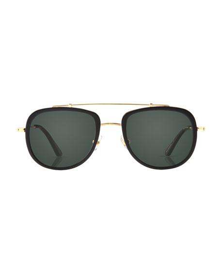 0109ea6ecff KREWE Breton 24K Gold-Plated Aviator Sunglasses