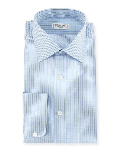 Graph Check Dress Shirt, Blue