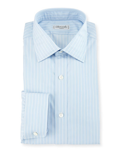 Striped Dress Shirt, White