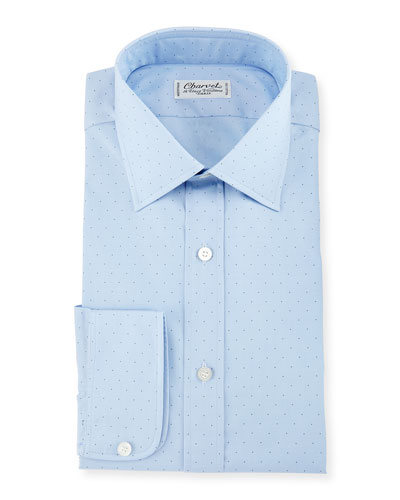 Pin Dot Dress Shirt, Blue