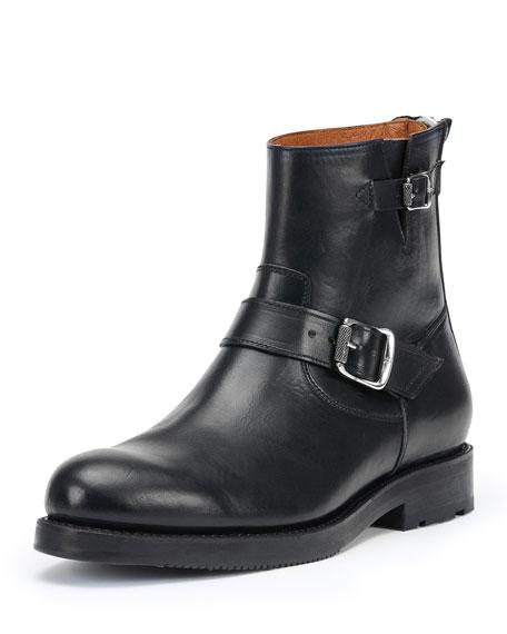 frye brayden leather engineer boot black
