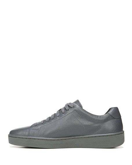 Vince Slater Leather Low Top Sneaker Gray