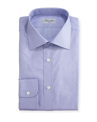 Small Check Dress Shirt, Lavender