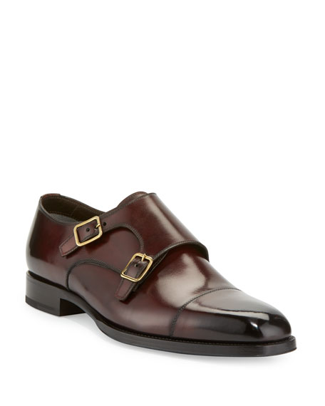 Tom Ford Double-Monk calfskin Finished dark IrAKHW