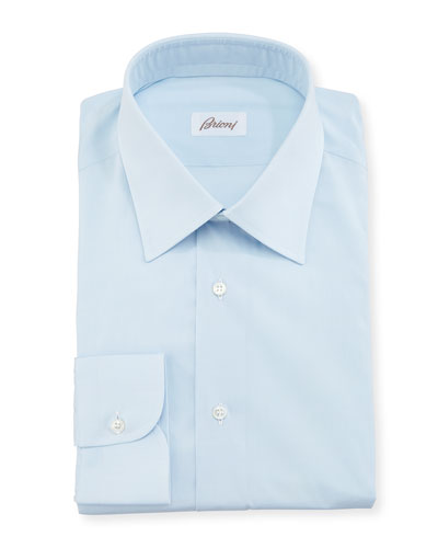 Solid Cotton Poplin Dress Shirt