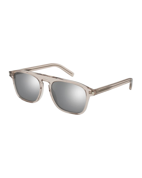 Sunglasses with flash Lenses in Nude Acetate Saint Laurent Hj6GmIY1