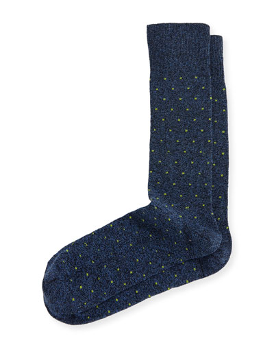 Square-Dot Jaspe Socks