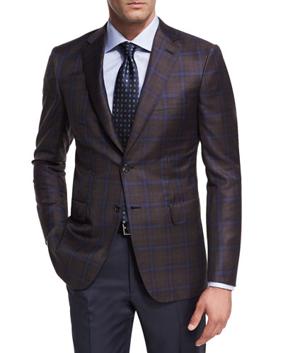Plaid Wool Two-Button Sport Coat