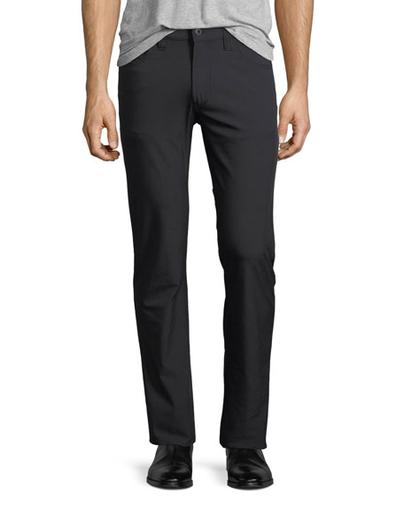 New Stretch-Nylon Five-Pocket Pants, Black