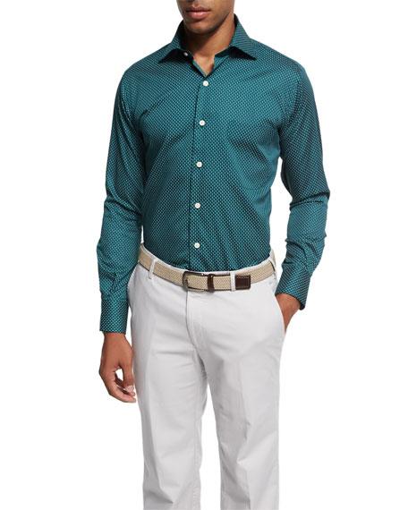 Peter Millar Crown Golf T Shirt Sport Shirt Forest