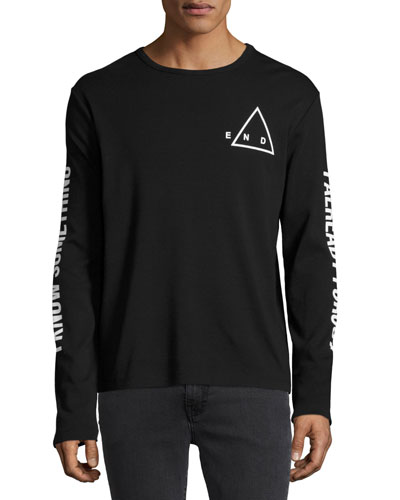 The End Long-Sleeve Cotton T-Shirt, Black