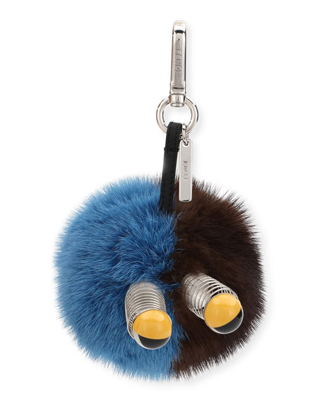 Fendi Fur Spring Eyes Charm for Bag or Briefcase 1MMIm