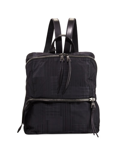 Plaid Nylon Backpack