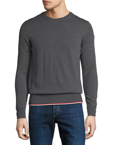 Knitted Wool Crewneck Sweater