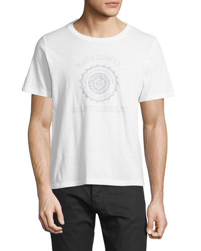 Universite Vintage-Effect Graphic T-Shirt