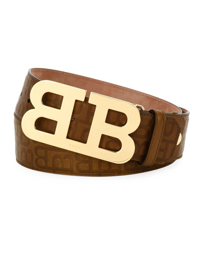 Stamped Leather Mirror B Belt