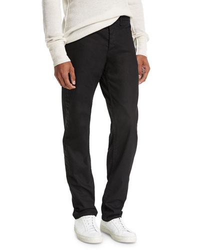 Standard Issue Fit 2 Mid-Rise Relaxed Slim-Fit Jeans, Coated Black