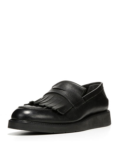 Pollock Leather Kiltie Fringe Penny Loafer