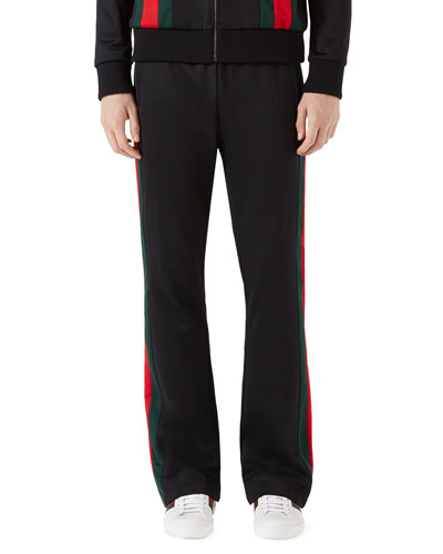 Track Pants with Web Taping