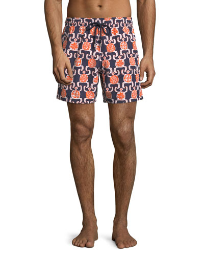 Moorea Primitive Turtles Swim Trunks