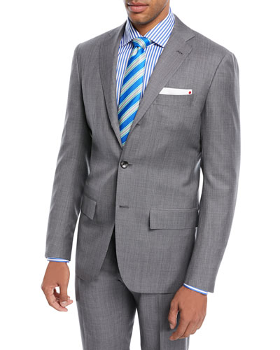 Super 160s Wool Sharkskin Two-Piece Suit