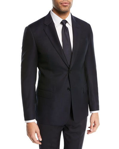 Two-Button Wool Blazer, Navy