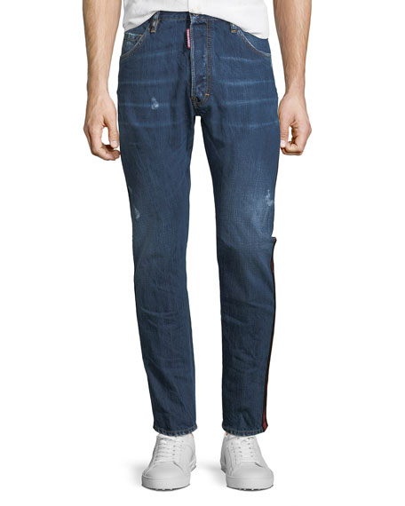 distressed straight leg jeans - Blue Dsquared2 uSoSU4