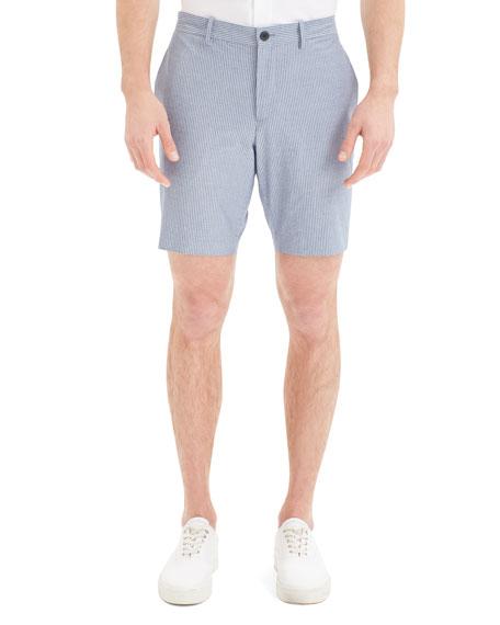 Mens Evan Striped Oxford Cloth Shorts Theory DslDU2