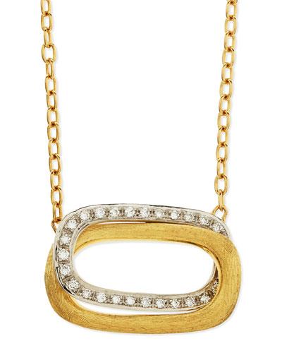 Murano 18k Gold & Diamond Pendant Necklace