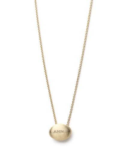 18k Gold Confetti Bead Custom Necklace