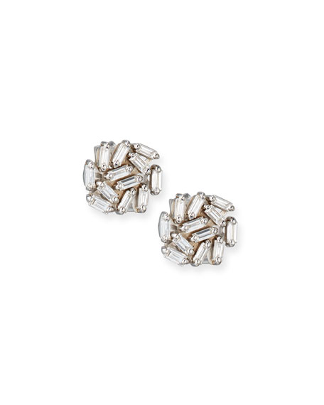 18K White Gold Diamond Earrings Suzanne Kalan xvEIQ01E