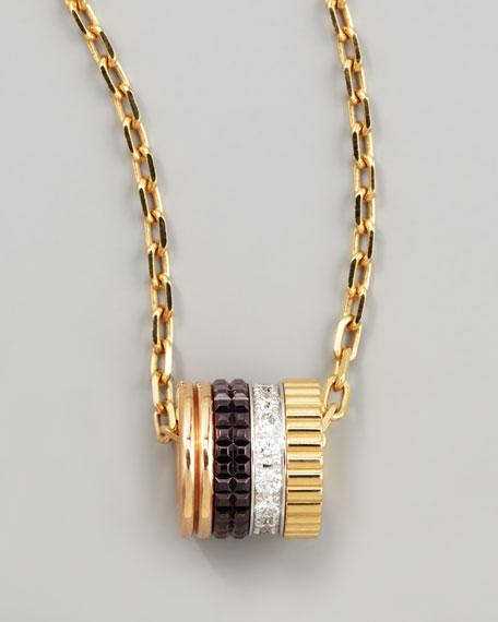 Boucheron Quatre Mini Ring Pendant Necklace with White Diamonds eobHCMFk