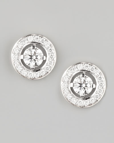 Ava 18k White Gold Diamond Stud Earrings, 0.72 TCW
