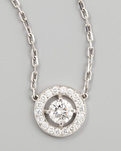 Ava 18k White Gold Round Diamond Pendant Necklace, 0.73 TCW