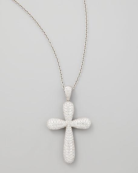 Nm diamond 18k white gold large pave diamond cross pendant necklace 18k white gold large pave diamond cross pendant necklace 481ct aloadofball Gallery