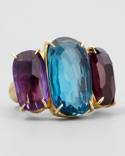 Murano 18k Large Three-Stone Ring