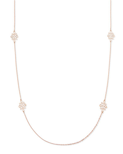 Eloise 18k Pink Gold Polished Necklace, 35""