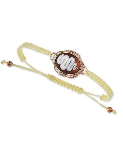 Snake Cameo Braided Bracelet