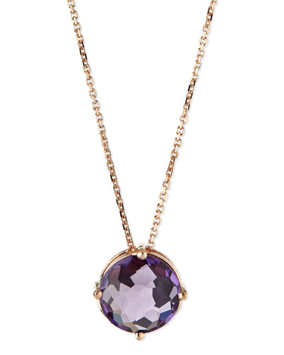 14k Rose Gold Necklace with Purple Amethyst