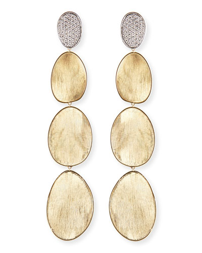 Diamond Lunaria 18k Gold Drop Earrings