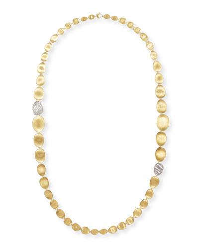 Diamond Lunaria 18k Gold Necklace, 36