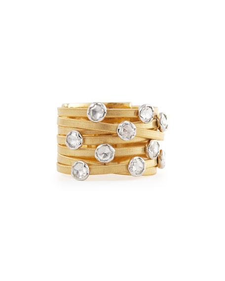 df1150087 Marco Bicego Goa Seven-Row 18k Yellow Gold Diamond Ring